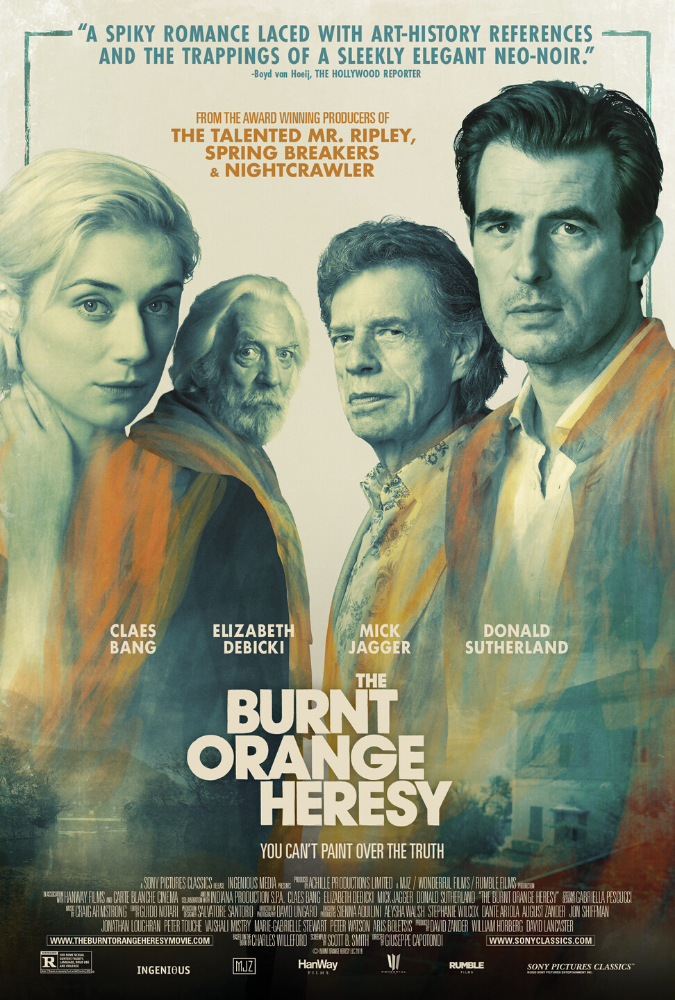 The Burnt Orange Heresy Movie Poster
